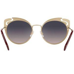 d446967827b Miu Miu Accessories - Miu Miu Sunglasses Pale Gold Garnet Blue